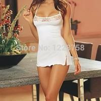 A11 Free shipping Women's Lace Lingerie Dress Babydoll Sleepwear Underwear G-string Nightwear I8078 P