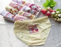 cotto12pcs/lot children underwear kids panties bread under pants girls triangle children briefs free shipping