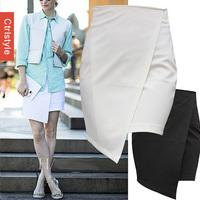 Wholesale/Retail Ctrlstyle Brand Cross Irregular Slim Formal OL Work Saia Women Skirt+Free Shipping Dropship