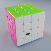 MoYu Aosu 4x4x4 Stickerless Magic Cube Speed Puzzle Twist Toys Beautiful Candy Color