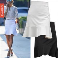 Wholesale/Retail Ctrlstyle Fashion Women Saia Mermaid Shape OL Work Women Skirt+Free Shipping Dropship