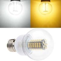New 4pcs/lot E27 E26 5W 550-LM 102 SMD 3528 LED Light Bubble Bulb Lamp Pure Warm White 12V AC Free Shipping