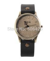 10pcs/lot Women Dress Watches Women rhinestone Watches Vintage Leather Fashion Quartz Retro Sports Vintage WristWatches 2014 New