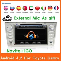 Pure Android 4.2 Car Radio Stereo DVD Player For Toyota Camry Aurion 2007 2009 2010 2011  GPS Navi Navigation Car Pc Head Unit