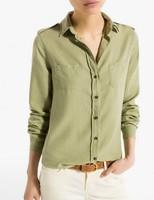 New Fashion Ladies' Elegant brief pockets OL blouses vintage turn down collar long sleeve shirts casual slim brand tops