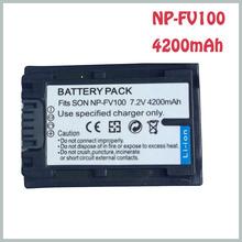 Accessories & Parts Digital Camcorder NPFV100 Rechargeble Battery NP-FV100 NP FV100 LI-ion Batteries for Sony FV30 DCR-DVD103