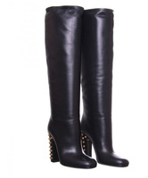 2014 Winter new fashion Rivets heel boots leather Brand high heel knight boots