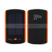 6000mah Universal 2 USB Port Solar Power Bank for Samsung ipad External Battery Charger Pack