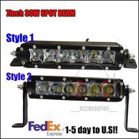 2x7Inch Cree 30W Spot Beam Work Driving LED Fog Light Lamp Bar Offroad save 120W
