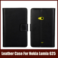 Phone Bag For Nokia Lumia 625 With Wallet Card Holder, Stand Flip Leather Case For Nokia Lumia 625,Free Shipping,11 Colors