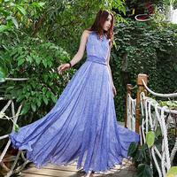 2014 summer plus size slim chiffon one-piece dress women's full dress