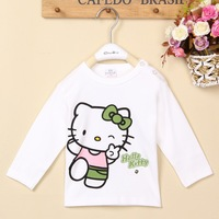 Free Shipping Hot new 4pcs/lot Kids boys girls hello kitty bear dog pig t shirt hoodies clothing kids autumn clothes wholesale