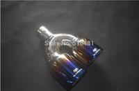 For all car Stainless Steel Exhaust Resonator Muffler Tip 6cm Inlet Blue 1pcs