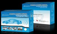 Free shipping Free Shipping 4 Sensors Parking Sensor Kit Real Person Speech 22mm Car Reverse Backup Radar System 12V