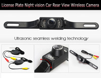 628*582 Pixels 120 Degree Wide Viewing Angle License Plate Night Vision Wireless car reverse camera  Backup car rear view camera