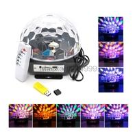 U disk SD Card AC 90V-240V 8 DMX Channel RGB LED 6CH Crystal Magic Ball Effect Light Stage Lighting KTV Disco DJ Bar Lamp