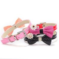 Wholesale 20pcs/lot New Pet Supplies Pet Collar Polka Dot Bowknot Dog Cat Collar