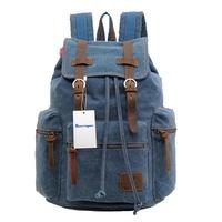 Free Shipping! Vintage Backpack Fashion Women Shoulder Bag Men Canvas Backpack Multi-Color Leisure Travel Bags Unisex Backpacks