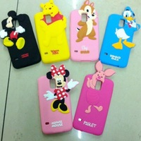 Animal Minnie Bear Duck Mickey Chip Pig Silicone Back Cover Cell Phone Cases For Samsung Galaxy S4 Mini S3 S5 DHL Free Shipping