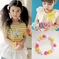 2014 new cute Fluorescence candy Bracelet girl colorful Bracelet very nice all match Bracelet