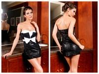 High quality! Fashion bow decoration mini Dress,Sexy Mini Clubbing Dresses, One Size, DL2382