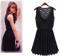 New Women Summer Dress 2014 Hot Selling Lace Chiffon Dresses Sexy Party Women Clothing hot Sale  #H25-01 Free shipping