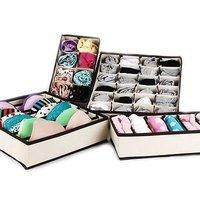 4pcs/set Home storage supply Underwear Organizer Closet Drawer Storage Box For Socks Ties Bra Lingerie Organiser