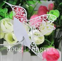 Wholesale - 1000pc Love Bird Place Card Laser Cut Wine Glass Card Wedding Party Decoration#Z130