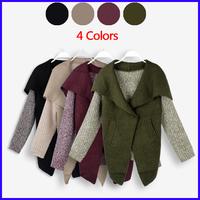 Fashion Winter Women Cardigan Long Sleeve Casual knitted Sweater Temperament Coats Jacket Sweater MZ25107