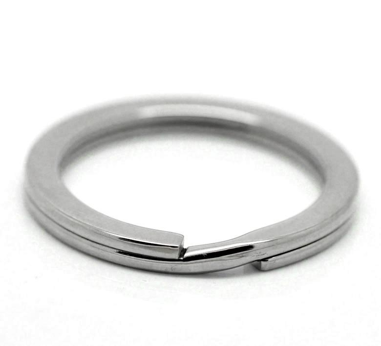 "2015 Fashion 5PCs Silver Tone Stainless Steel Split Rings Key Rings Key Chains 33mm(1 2/8"")(China (Mainland))"