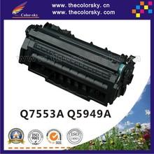 (CS-7553AU) print top premium toner cartridge for HP Q7553A Q5949A Q7553 Q5949 Q 7553A 7553 5949A 5949 53A 49A BK 3K free FedEx