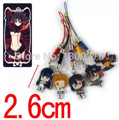 Cartoon Movie TV Kill La Kill Ryuko Matoi metal figure pendant mobile phone straps alloy fashion toys straps(China (Mainland))