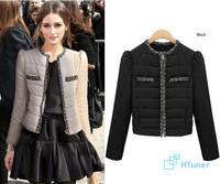 2014 New Female Good Quality Gentle Short Style Women's  Fashion Slim Large size Thick European Warm Winter Jacket Outwear Coat