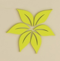Leaves shaped wall stickers 3D home decoration romantic background wall decoration room decor 6pcs/set,2sets/lot free shipping