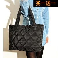 2014 in the new winter fashionable bag handbag shoulder bag down cotton padded jacket bag space bag