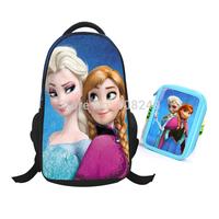 Large Size Frozen Backpacks Frozen School Backpacks+Frozen Pencil Cases Cartoon Children Student Backpacks Sets