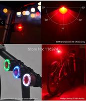1pcs/lot ,Laser Bicycle Tail Red Light led Bike tail light laser bike light laser tail light (5LED+2Laser)