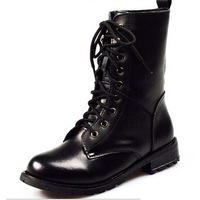 High Quality 2014 Women Genuine Leather Boots Motorcycle Ankle Autumn Winter Martin Boots Size 35-40