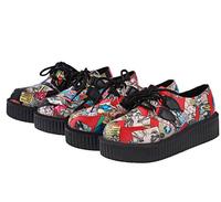 Fashion Streetwear Flat Platform Women Shoes Cool Carton Lace-up Boat Boot Womens Autumn Spring Flats Shoes Free Shipping