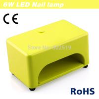 2014 New Design Mini Style 6W LED Nail Art Lamp Nail Dryer Nail Care Machine for UV Gel Nail Polish Free Shipping