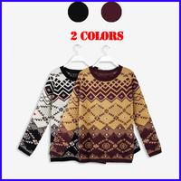 Winter 2014 Women Sweater Long Sleeve Casual Elegant knitted Sweater Geometric Plaid Jumper Pullover women  MZ25108