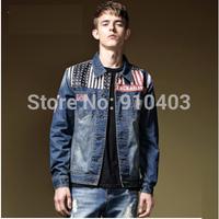 2014 New Fashion Men Winter Jacket, Denim Casual Man Jacket MW01