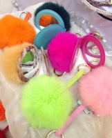 New arrival lovely plush cover makeup mirrors pocket mirror with hanging ring wholesales and retail color beauty accessories