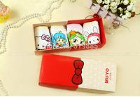 4 pcs/lot 2014 new cute baby girls underwear children Modal cartoon panties with gift box for 3-10 years girls