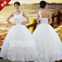 Wedding dress 2014 the latest European and American Shoulder oblique petal sweet princess wedding  Bra mermaid