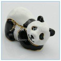 100% handmade panda shape jewelry box special colorful jewelry gift box/decoration jewelry boxes wholesale SCJ338-4
