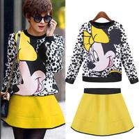 Autumn and Winter Dress Long Sleeve, Women Hoodies Sweatshirts Harajuku , Pullover Sweaters Dress, Mikey Mickey SweatshirtH14492