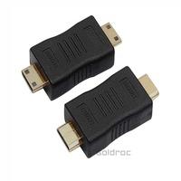 High Quality MINI HDMI 19 M TO MINI HDMI 19 M HDMI to DVI Adapter Converter Bridging between DVI and HDMI Free Shipping