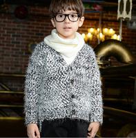 2014 autumn new Korean boys and girls wool cardigan sweater coat