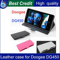 Free shipping Baiwei PU bag For Doogee DG450 Flip case mobile phone cover accessories with stand/Kate
